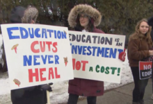 Photo of Education union heads speak ahead of mass teachers' protest in Ontario
