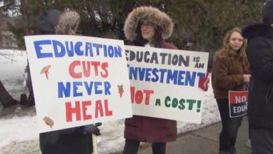 Photo of Education union heads speak ahead of mass teachers' protest in Ontario