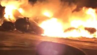 Photo of Eyewitness sees massive fire after Sask. train derailment