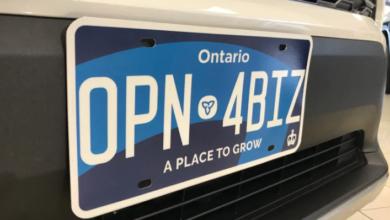 Photo of Toronto's photo radar cameras having trouble reading new Ontario licence plates