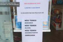 Photo of Álcool e gel desinfectante esgotados nas farmácias e racionados nos supermercados da Madeira