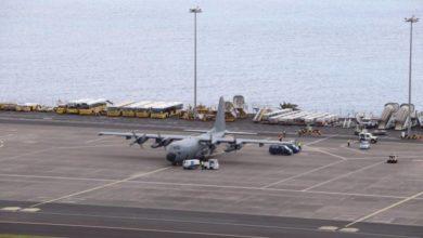 Photo of Avião militar aterrou no Aeroporto da Madeira com material hospitalar