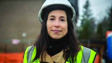 Photo of Woman in construction