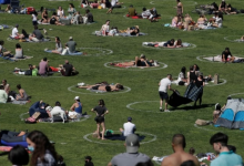 Photo of City exploring circles painted on grass to ease physical distancing, mayor says