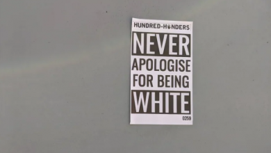 Photo of Posters, stickers promoting white nationalism appear in south Etobicoke