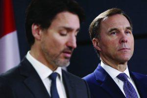 Justin Trudeau e o ministro das Finanças Bill-temacapa-mileniostadium