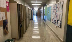 Empty school hallway-Milenio Stadium-GTA
