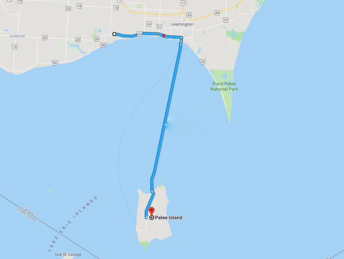 Pelee Island, praia e bom vinho-map-temacapa-mileniostadium
