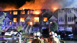 Massive early-morning fire destroys 11 townhouses in Winona-Milenio Stadium-GTA