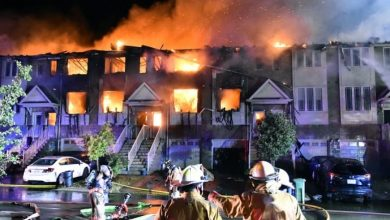Photo of Massive early-morning fire destroys 11 townhouses in Winona
