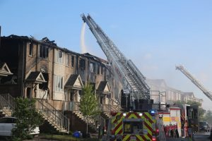 Townhomes fire-Milenio Stadium-GTA