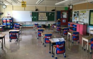 Classrooms set-u with new physical distancing measures-Milenio Stadium-Canada