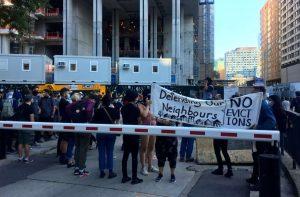 Eviction Protest Toronto-Milenio Stadium-GTA