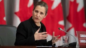 Freeland to replace Morneau as Trudeau's finance minister-Milenio Stadium-Canada