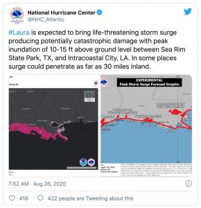 Hurricane Laura strengthens in Gulf-twitter-mundo-mileniostadium