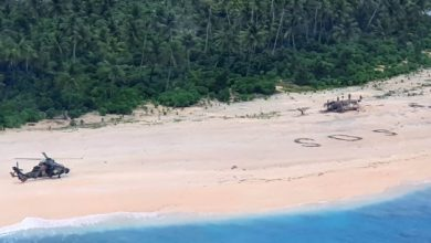 Photo of Giant SOS on Pacific island leads to rescue of stranded sailors