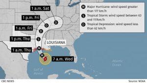 Hurricane Laura strengthens in Gulf-po-graphic-mundo-mileniostadium