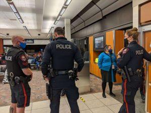Police in the Airport-Milenio Stadium-Canada