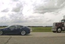 Photo of Speeding Tesla driver caught napping behind the wheel on Alberta highway