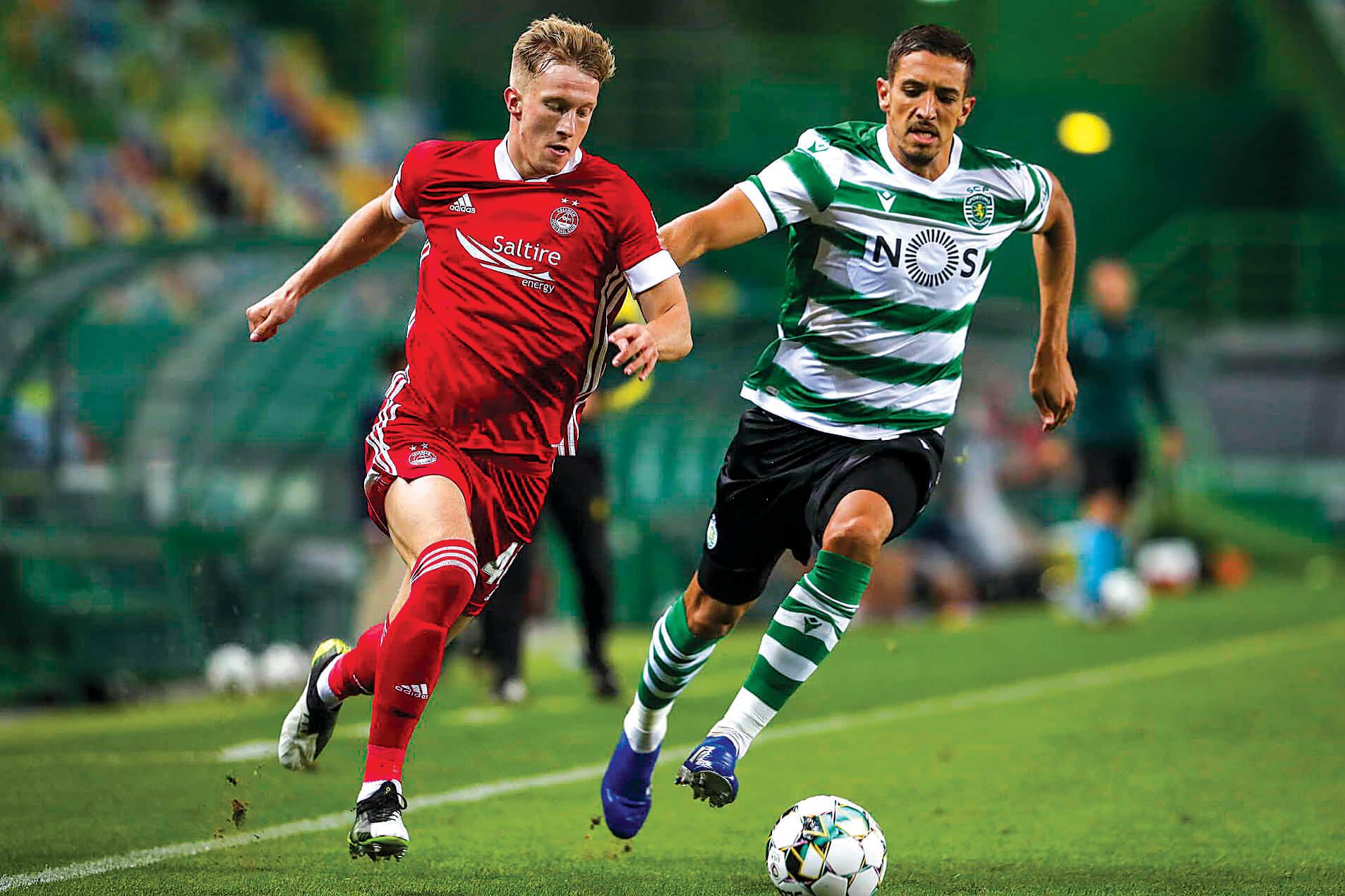 Tiago Tomás coloca Sporting no play-off da Liga Europa - milenio stadium - portugal