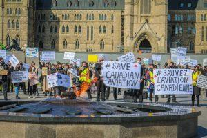 Airlines protest-Milenio Stadium-Canada