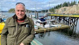 B.C. municipal politician Jim Abram of Quadra Island-Milenio Stadium-Canada
