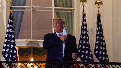 Donald Trump com covid-19 entrou na Casa Branca sem máscara