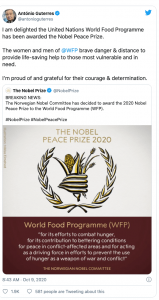 World Food Program wins Nobel Peace Prize-mundo-mileniostadium
