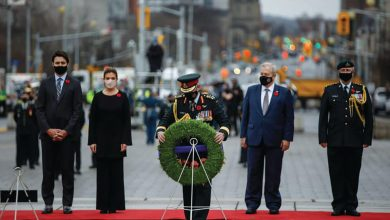Cerimónias do Remembrance Day-canada-mileniostadium