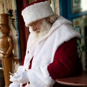 Floyd Blakeney has performed as Santa Claus for about 40 years in Nova Scotia-Milenio Stadium-Canada
