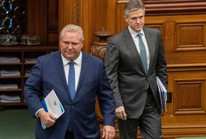 Ontario Premier and Finance Minister-Milenio Stadium-Ontario