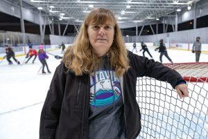 Phyllis Bergmans, president of the City of Ottawa Ringette Association-Milenio Stadium-Canada