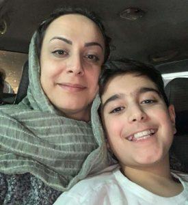 Farzaneh Naderi and her 11-year-old son Noojan-Milenio Stadium-Canada