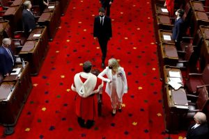 Payette arrives to deliver the throne speech-Milenio Stadium-Canada