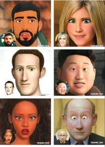 Celebridades em cartoon-un-mileniostadium