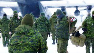 Troops arrive in Manitoba-Milenio Stadium-Canada
