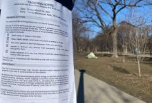 City tells encampment residents they have until April 6 to remove makeshift homes from parks-Milenio Stadium-Ontario