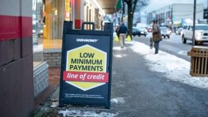 Payday lender lines of credit and instalment loans at 47% create debt traps, critics say-Milenio Stadium-Canada