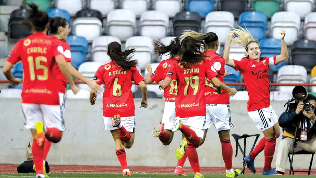 milenio stadium - futebol feminino - benfica vence sporting e conquista a taça da liga
