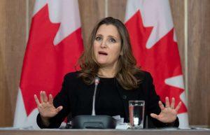 Deputy Prime Minister Chrystia Freeland-Milenio Stadium-Canada